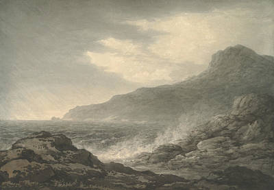 Drawing - Barren Coast And Slight Storm by John Glover