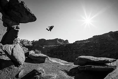 Photograph - Base Jumper by Whit Richardson