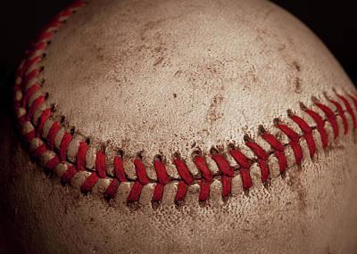 Baseball Close-up Photograph - Baseball Seams by David Patterson