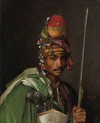 Soldier Painting - Bashi Bazouk by Jean Leon