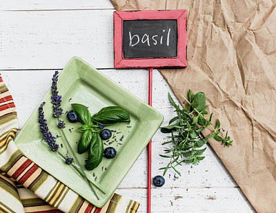 Photograph - Basil Still Life #2 by Rebecca Cozart