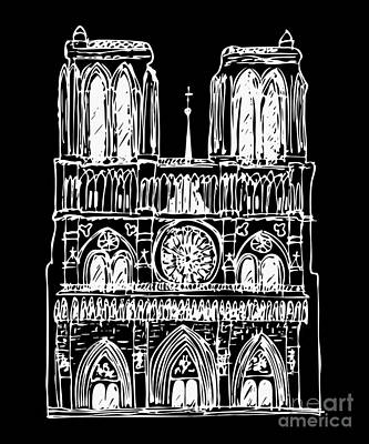 Notre Dame Drawing - Basilica Notre Dame by Michal Boubin