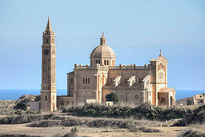 Maltese Photograph - Basilica Ta Pinu - Gozo by Joana Kruse
