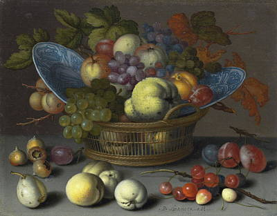Painting - Basket Of Fruits by Balthasar van der Ast