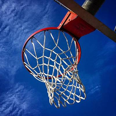 Sports Wall Art - Photograph - Basketball Hoop #juansilvaphotos by Juan Silva