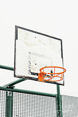 Photograph - Basketball Ring In The Snow by Tom Gowanlock