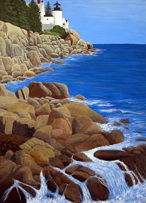 Painting - Bass Harbor Head Lighthouse by Frederic Kohli