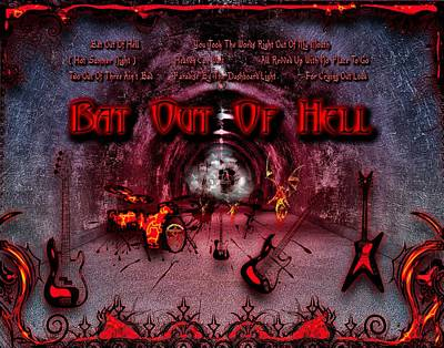 Digital Art - Bat Out Of Hell by Michael Damiani
