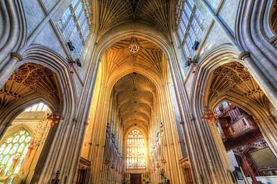Photograph - Bath Abbey Architecture  by David Pyatt