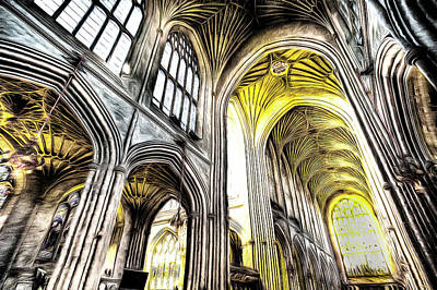 Photograph - Bath Abbey Art by David Pyatt