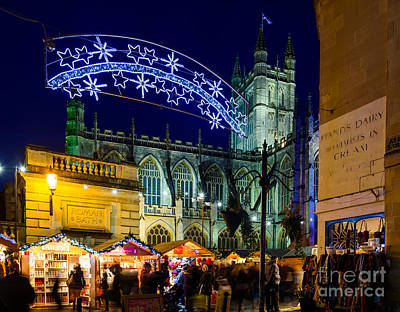 Photograph - Bath Christmas Market by Colin Rayner