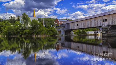 Photograph - Bath Covered Bridge. by New England Photography