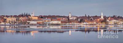 Midcoast Photograph - Bath Maine Panorama by Benjamin Williamson
