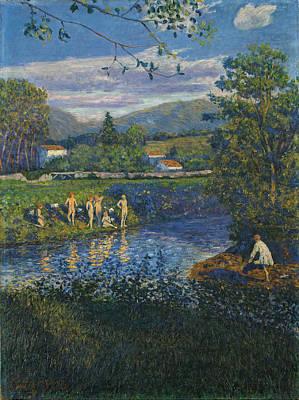 Painting - Bathing In Renteria by Dario de Regoyos