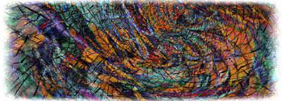 Loon Digital Art - Batik by Phil Sadler