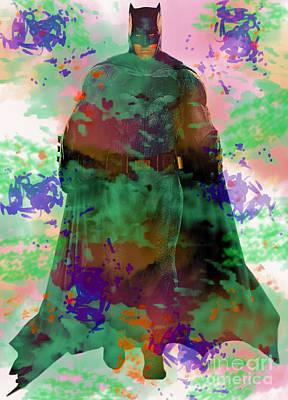Digital Art - Batman by Steven Parker