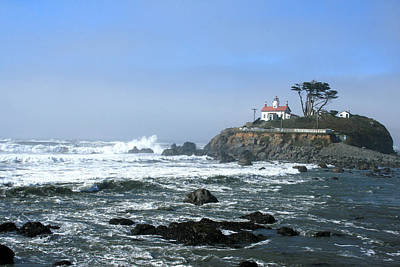 Battery Point Lighthouse Crescent City 1 Print by Larry Darnell