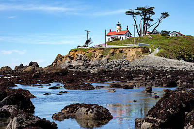 Battery Point Lighthouse In Crescent City Art Print by Rick Pisio
