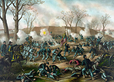 Union Painting - Battle Of Fort Donelson by War Is Hell Store