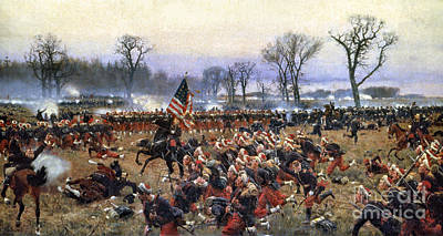 Battle Of Fredericksburg Art Print