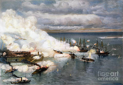 Mobile Bay Photograph - Battle Of Mobile Bay, 1864 by Granger