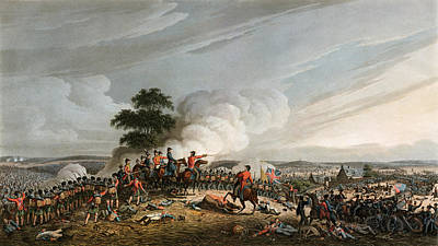 Drawing - Battle Of Waterloo, 1815 by Granger