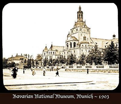 Photograph - Bavarian National Museum, Munich, Germany, 1903 by A Gurmankin