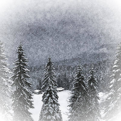 Snowfall Digital Art - Bavarian Winter's Tale I by Melanie Viola
