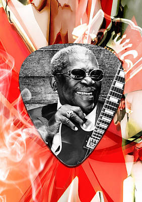 Guitar Mixed Media - Bb King Art by Marvin Blaine