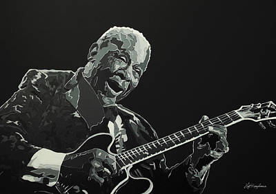 Painting - Bb King by Hay Rouleaux