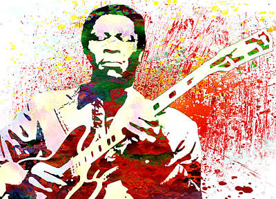 B.b.king Art Print by Elena Kosvincheva