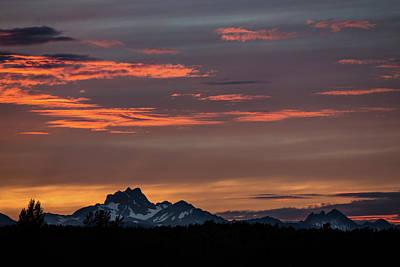 Photograph - Bc Mountain Sunset by Ryan Heffron