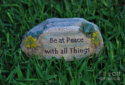 Art Print featuring the photograph 1- Be At Peace by Joseph Keane