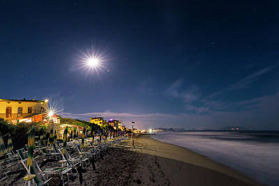 Photograph - Beach At Night - Spiaggia Di Notte by Enrico Pelos