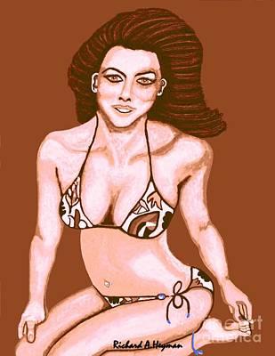 Beach Babe Print by Richard Heyman
