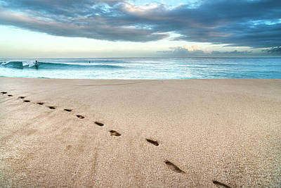 Photograph - Beach-break Footprints. by Sean Davey