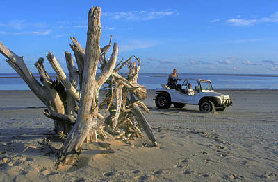 Photograph - Beach Buggy On Brazil Beach by Carl Purcell
