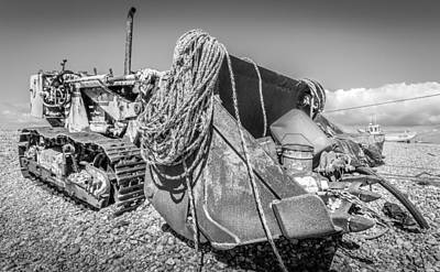 Photograph - Beach Bulldozer. by Gary Gillette
