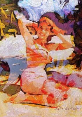 Painting - Beach Bunny by Lelia DeMello