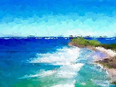 Digital Art - Beach Day by Anthony Fishburne