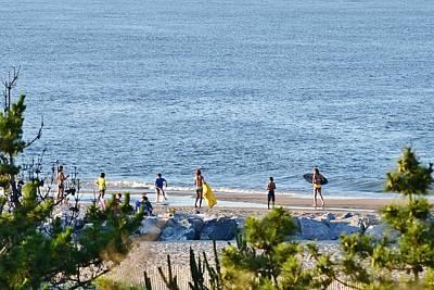 Photograph - Beach Fun At Cape Henlopen by Kim Bemis