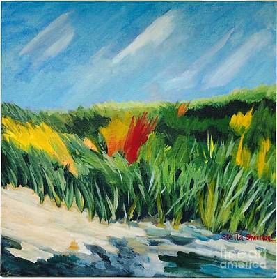 Painting - Beach Grass by Stella Sherman