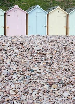 Photograph - Beach Huts Iv by Helen Northcott