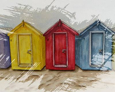 Painting - Beach Huts by Kelly Mills