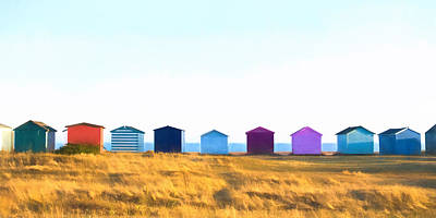 Photograph - Beach Huts by Trevor Wintle