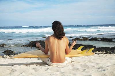 Beach Meditation Art Print