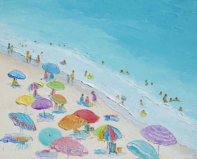 Painting - Beach Painting - Summer Love by Jan Matson