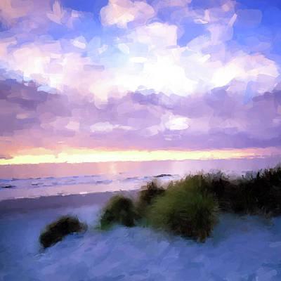 Digital Art - Beach Sawgrass by Gary Grayson