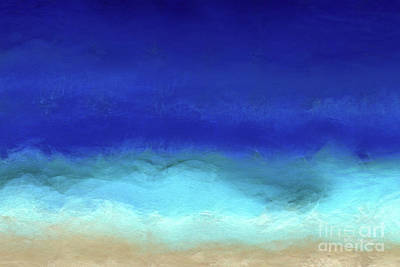 Painting - Beach Scene 8. Aqua Beach Blues by Mark Lawrence