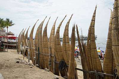 Digital Art - Beach Scene In Huanchaco by Carol Ailles